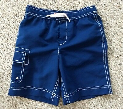Lands End Boy's Solid Swim Trunks Blue Lagoon New Large 7