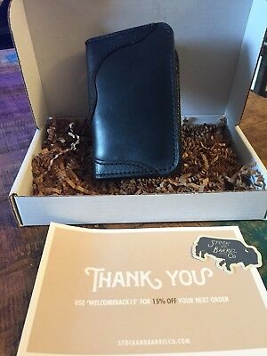 Leather wallet card case by Stock and Barrel Co. Veg tanned hipster awesome