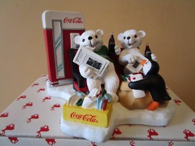 """CAVANAUGH'S COCA COLA Figurine, 1998, """"PASSING THE DAY IN A SPECIAL WAY"""""""