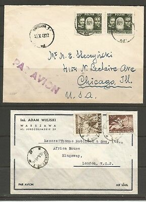 Poland, Two Airmail Covers Lot 3