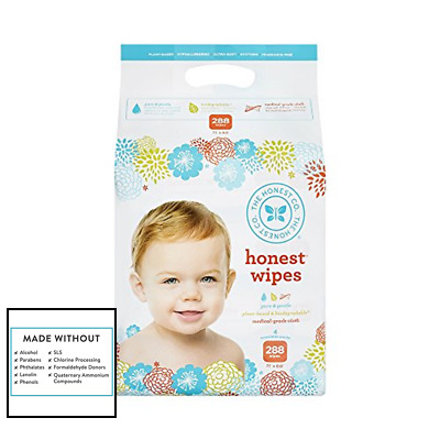 Honest Company Baby Wipes Fragrance Free Classic 288 Ct Health Personal Care