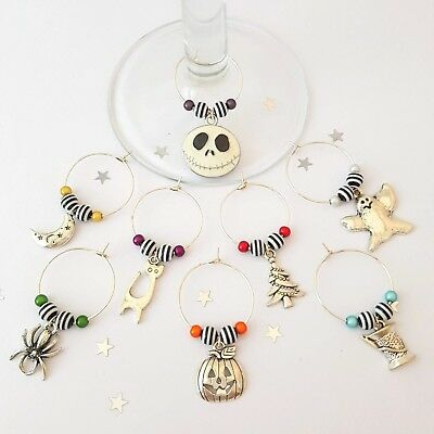 Eight Nightmare Before Christmas Themed Wine Glass Charms *Jack Skellington*Gift