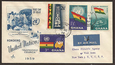 Ghana. 1959. Un Set. Registered First Day Air Mail Cover.