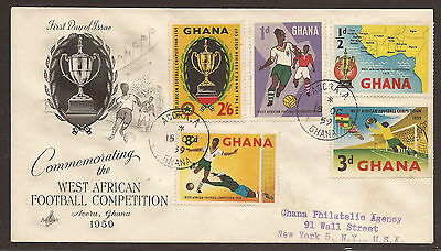 Ghana. 1959. Football Set. Registered First Day Air Mail Cover.