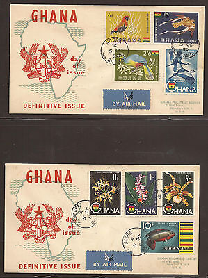 Ghana. 1959. High Value Definatives. Registered First Day Covers.