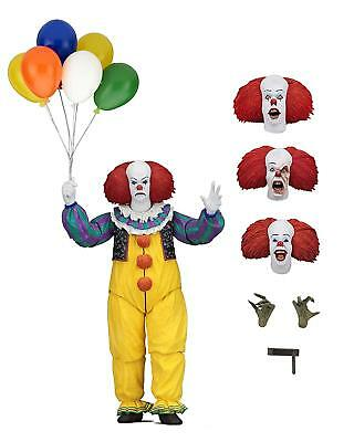 """Pennywise IT 1990 Ultimate Action Figure by NECA 7"""" Scale"""