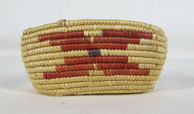 Vintage West to Northwest Coast Native American Paiute Indian Oval Basket #1 yqz