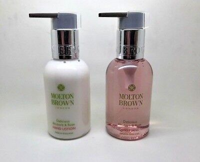 Molton Brown Delicious Rhubarb & Rose Hand Wash plus Lotion 100ml NEW