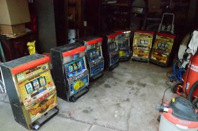 Lot of 7 Japanese Slot Machines Skill Stop, Pachislo--Ward of Lights, Yellow Sub
