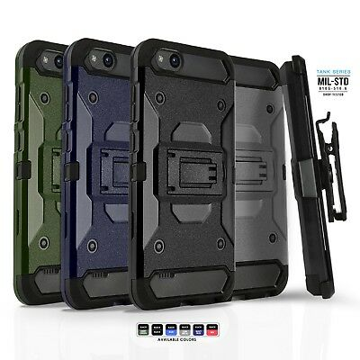 Phone Case for ZTE ZFIVE C LTE, [Tank Series] Shockproof Cover & Holster Clip
