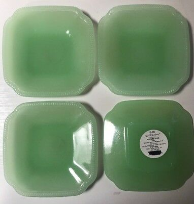 Hearth & And Hand Magnolia Glass Appetizer Plate Rustic Jadeite Green   Lot Of 4