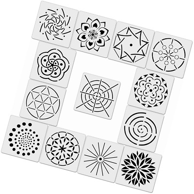 13PCS MANDALA DOTTING Templates Stencils for DIY Painting