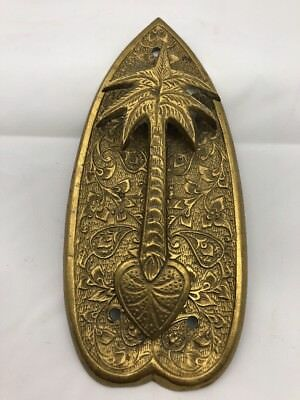Brass Palm Tree Door Knocker Vintage