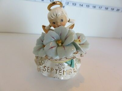 Vintage Sept Angel Morning Sapphire By Lefton