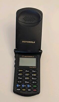 Motorola StarTAC Model ST7868W Flip Cell Phone with carrying case