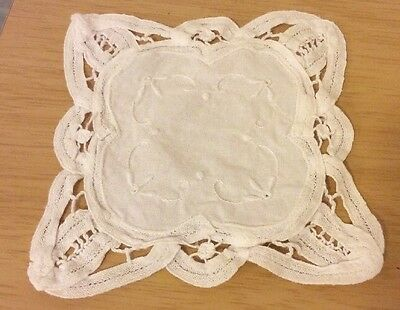 Small Cotton Embroidered Doily