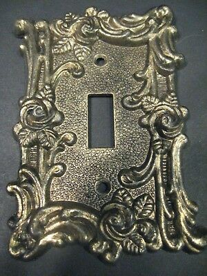 Vintage Brass light switch plate covers Rose flower floral switch play cover