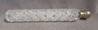 Antique Long Lay Down Cut Glass English Perfume