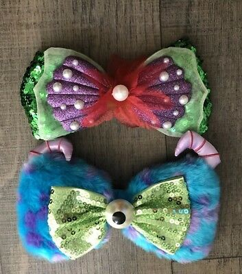 Disney Parks Monsters And Ariel Little Mermaid Interchangeable  Swap Your Bow