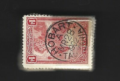 TASMANIA 100X PICTORIAL STAMPS  1d  RED GOOD CONDITION