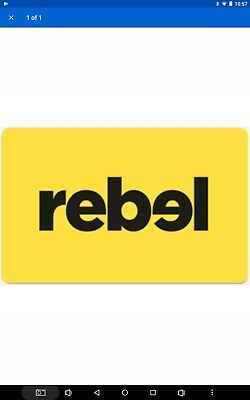 Rebel Sport electronic Gift Card $175 - Email Delivery