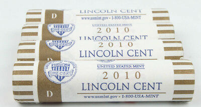 1- 2010-D Us Mint Sealed Lincoln Shield Cent Penny Bu Roll Lp5