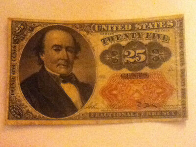 Series 1874 Us 25 Cent Fractional Currency Note