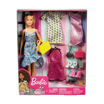Licensed Barbie Doll Dressing Up Fashion Accessories Set Birthday Christmas Gift