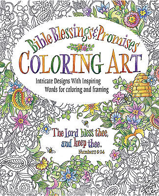 Bible Blessings & Promises Adult Coloring Book Art Intricate Designs Inspiring
