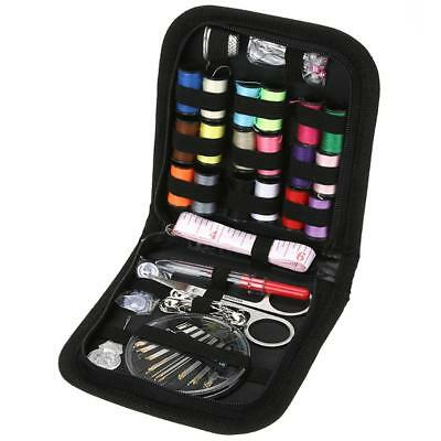 Sewing Kit Box Black Hand Tools Combination 70 Pieces Set DIY Workshop Supplies