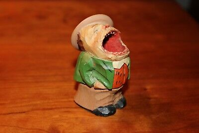 ANRI Singing Toothpick Holder Man 1 w/Label - Part of Collection being sold off