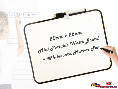Portable Whiteboard White Board 20x26cm Dry Erase Board OZ