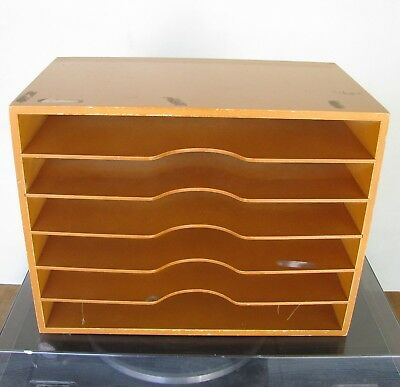 Wooden Document File Tray Holder
