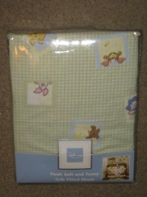 New Disney  Winnie The Pooh & Friends Fitted Crib Sheet  100% Cotton