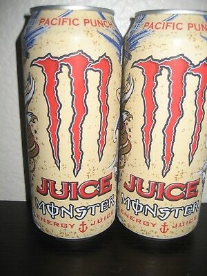* BRAND NEW RELEASE * MONSTER ENERGY PACIFIC PUNCH (2) * FULL 16 oz. CANS