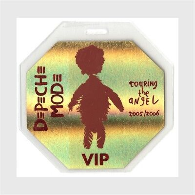 Depeche Mode authentic 2005 concert Laminated Backstage Pass Angel Tour VIP gold