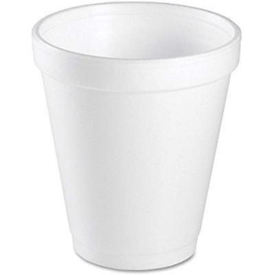 Dart 8 Oz White Disposable Coffee Foam Cups Hot And Cold Drink Cup, Pack 100