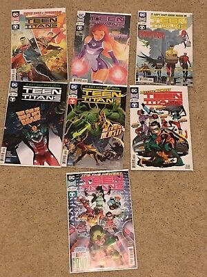Lot of 7 Teen Titans Rebirth (DC 2016) 15 16 17 18 19 20 21 1st prints NM