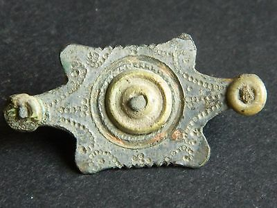 ANCIENT ROMAN SILVERED BROOCH 2nd C AD VERY RARE
