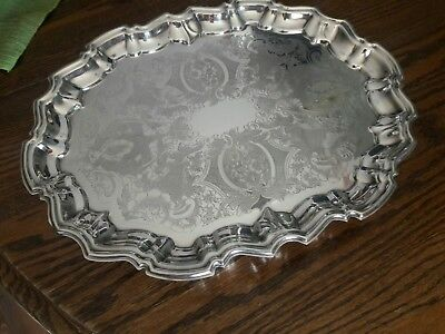 """W & S Blackinton vintage silverplate footed 14""""×11"""" tray"""