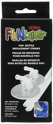 Thermos Replacement Straws for 12 Ounce Funtainer Bottle Clear (F401RS6)