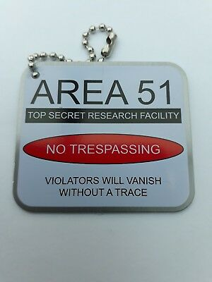 'AREA 51' travel tag - unactivated - geocaching
