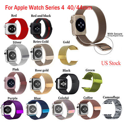 For iWatch Apple Watch Series 4 Milanese Magnetic Watch Band 40/44mm