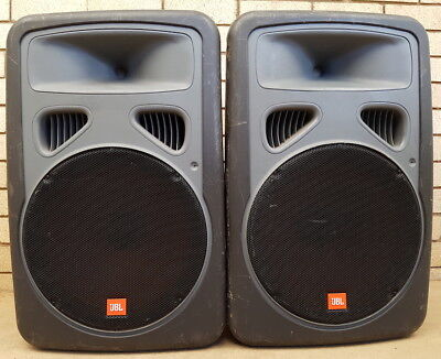 Pair of JBL EON 15P-1 powered speakers rugged reliable and working