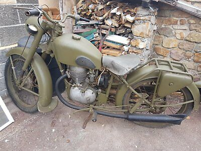 vintage motorcycle military 1940's style