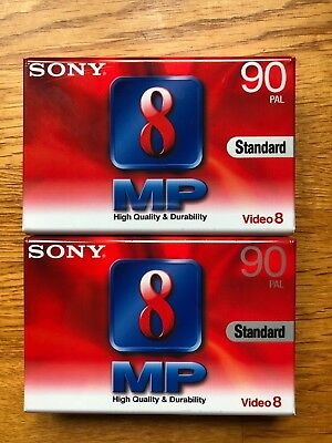 2 X Sony P5-90MP3 8mm Video-8 Tapes