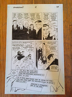 Generations Issue 2 page 48 by John Byrne!!  Batman! Superman! Supergirl!