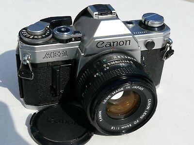 Canon AE-1 (ohne Asthma) mit Canon FD 50 mm (1:1.8) - sehr guter Zustand