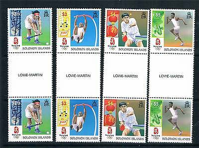 Solomon Is 2008 Beijing Olympics GUTTER PAIRS SG1246/49 MNH