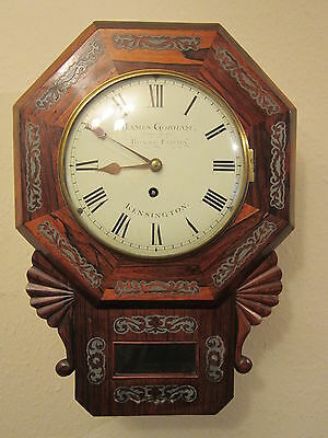 "Antique 8"" fusee drop dial clock"